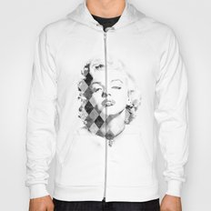 Marilyn Monroe Black and White Checkered Hoody