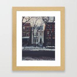 Snowy Chicago Framed Art Print