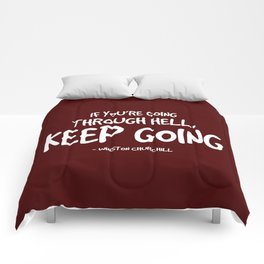 Going Through Hell Quote - Churchill Comforters