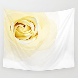 Whtie Rose Wall Tapestry