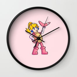 Super Peach 3D World: Boomerang! Wall Clock
