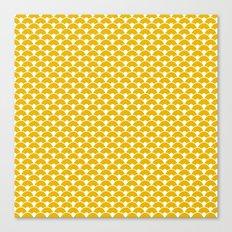 Dragon Scales Mustard Canvas Print
