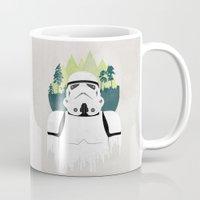 stormtrooper Mugs featuring Stormtrooper by Robert Scheribel