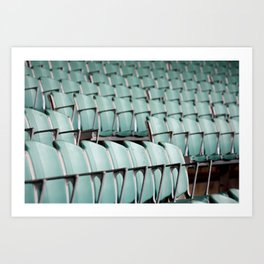 Chairs & bleachers Art Print
