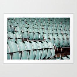 Chairs & bleachers Art Print