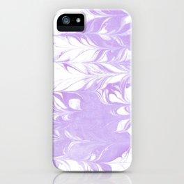Marble pattern purple and white minimal inked minimalism marbled art iPhone Case