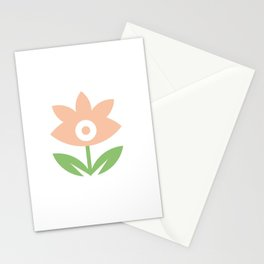 Be my flower girl- Perennial Flower with leaves Stationery Cards