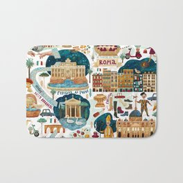Rome map Bath Mat