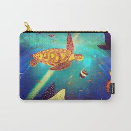 Beautiful Sea Turtles Under The Ocean Painting Carry-All Pouch
