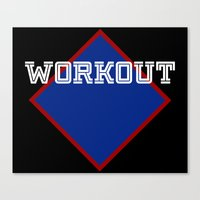 workout Canvas Prints featuring WORKOUT by Gravityx9