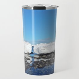 Icebergs Beached by the tides Travel Mug