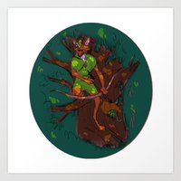 robin hood Art Prints featuring Robin Hood by Kaley Bales (polarbales)