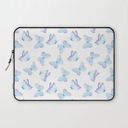 Hand painted pastel teal lavender watercolor butterflies Laptop Sleeve