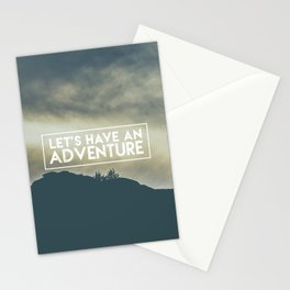 lets have an advanture Stationery Cards