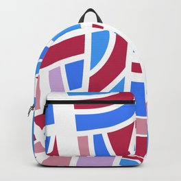Broken Pink And Blue Abstract Backpack
