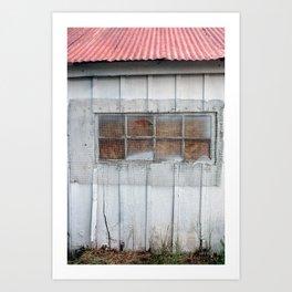 Red Tin Roof Art Print