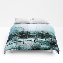 Cold Forest Playground Comforters