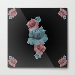 Glitch Roses Metal Print