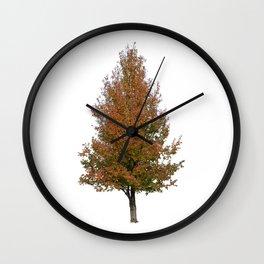 pear tree on white Wall Clock