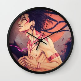 Dusk of the Jackals - Tribal Nuvat Wall Clock