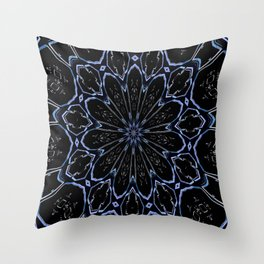 Flower Crystallization Throw Pillow
