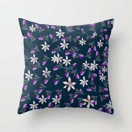 Beautiful pattern design with flowers in vintage style Throw Pillow