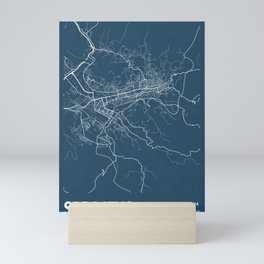 Sarajevo Blueprint Street Map, Sarajevo Colour Map Prints Mini Art Print