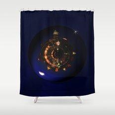 Manhattan Island Moonlight Shower Curtain