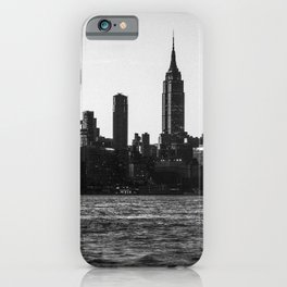 New York City Skyline in Black & White iPhone Case