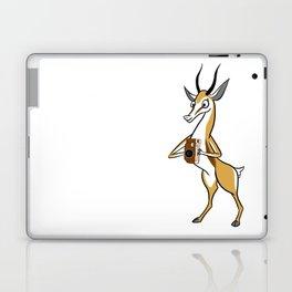 Springbok with a folding camera Laptop & iPad Skin