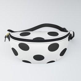 Black and White Polka Dot Fanny Pack