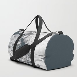 Elegant Peony Bouquet Gray Monochrome #decor #society6 #buyart Duffle Bag