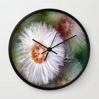 dandelion Wall Clocks featuring Dandelion by Laake-Photos