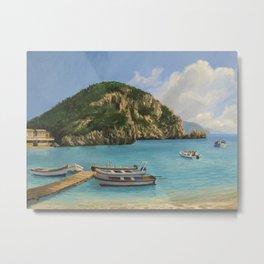 The Boats Of Paleokastritsa Metal Print