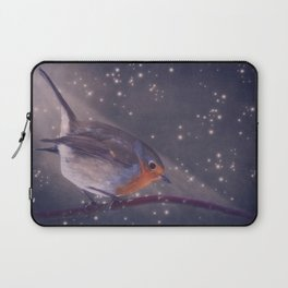 The little robin at the night Laptop Sleeve