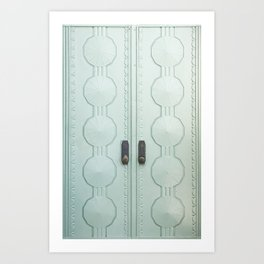 griffith observatory door in l.a., detail Art Print