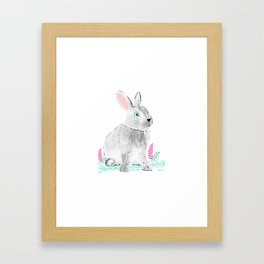Cute little rabbit Framed Art Print
