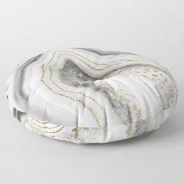 White Agate Gold Foil Glam #1 #gem #decor #art #society6 Floor Pillow