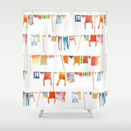 Laundry Shower Curtain