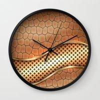anaconda Wall Clocks featuring Blingin Anaconda by Robin Curtiss