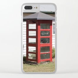 Old Telephone box Clear iPhone Case