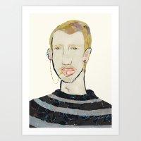 Lip Chain Piercing Art Print
