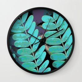 Young Leaves Wall Clock
