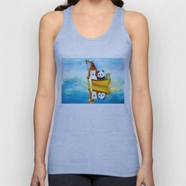 Herbert at Sea Unisex Tank Top
