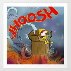 Whoosh! Art Print