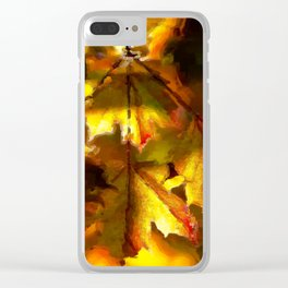 Sun kissed Sycamore leaves Clear iPhone Case