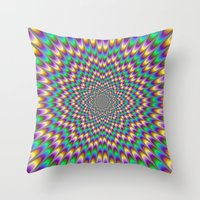 bender Throw Pillows featuring Eye Bender by Objowl