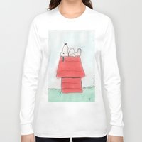 peanuts Long Sleeve T-shirts featuring Peanuts by Smash Art