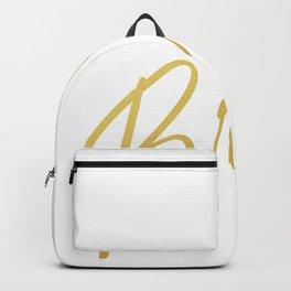 Gold Bride Design with Wedding Ring Bachelorette Party Design Bride Wedding Bridal Shower Image Backpack