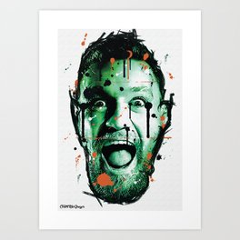 Unique Conor McGregor Graffiti Print / Digital Art / Boxing Print / Framed or Unframed / Notorious / Art Print
